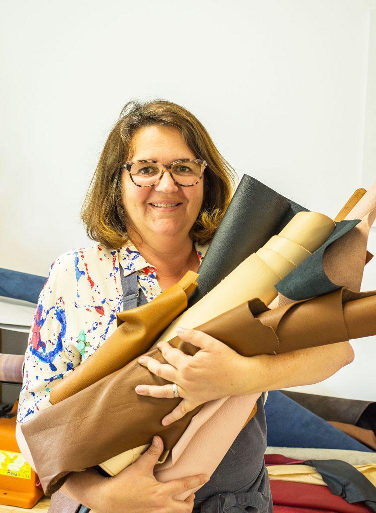 Hélène Pierucci,Po Artisan, maroquinière